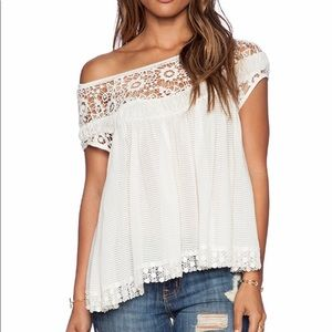 Free People Heartthrob Babydoll Top Sz Small